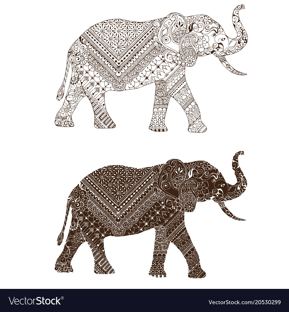 Elephant decorated mehndi