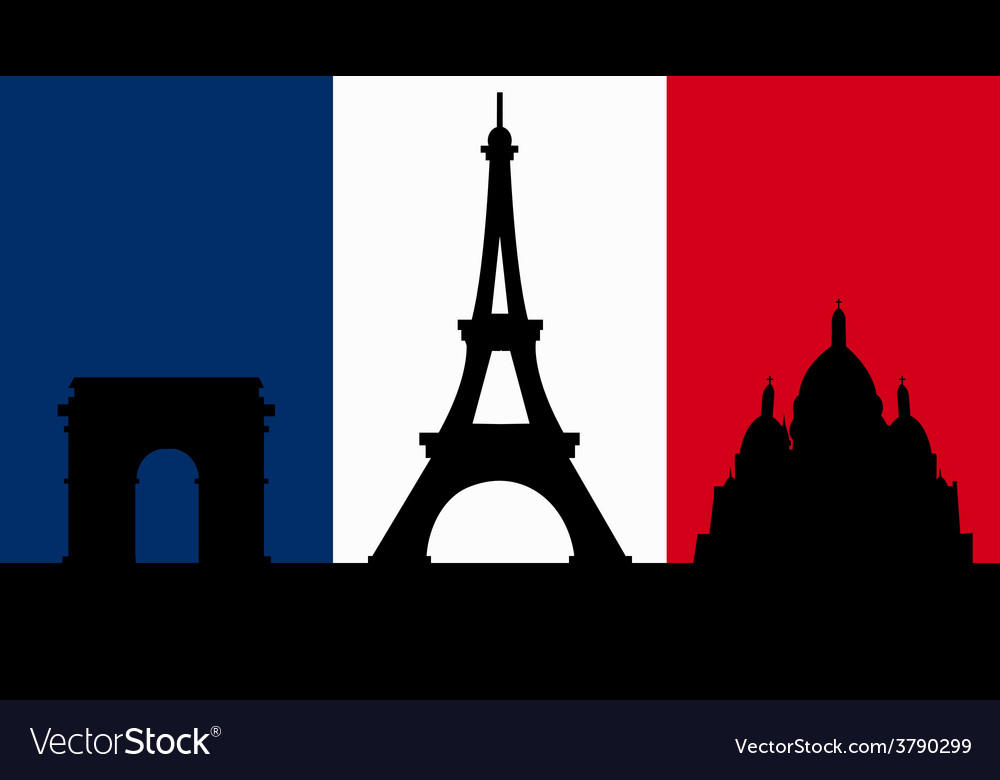 French Design with Paris Flag