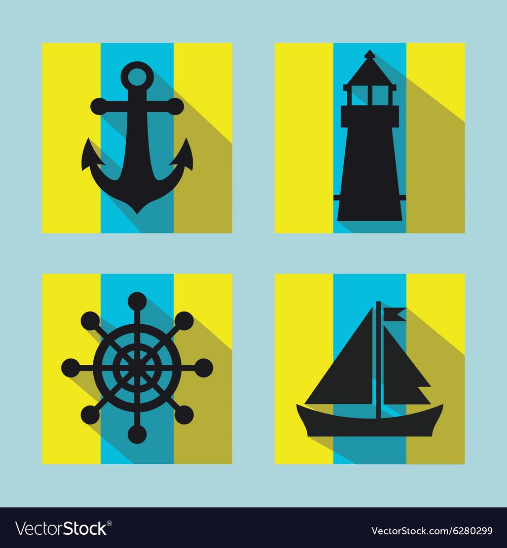 Naval icon set
