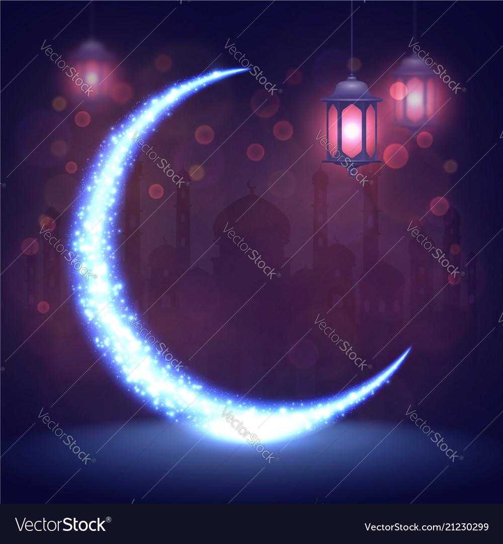 Ramadan kareem greeting islamic card eid mubarak