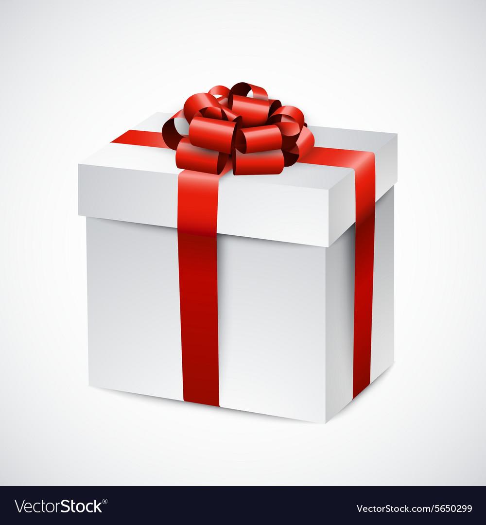 realistic 3d gift box royalty free vector image rh vectorstock com gift box vector free download gift box vector free download