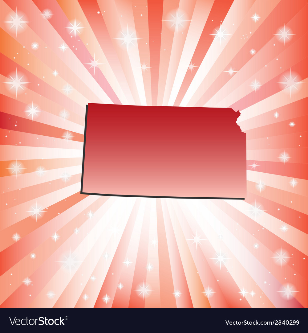 Red Kansas vector image