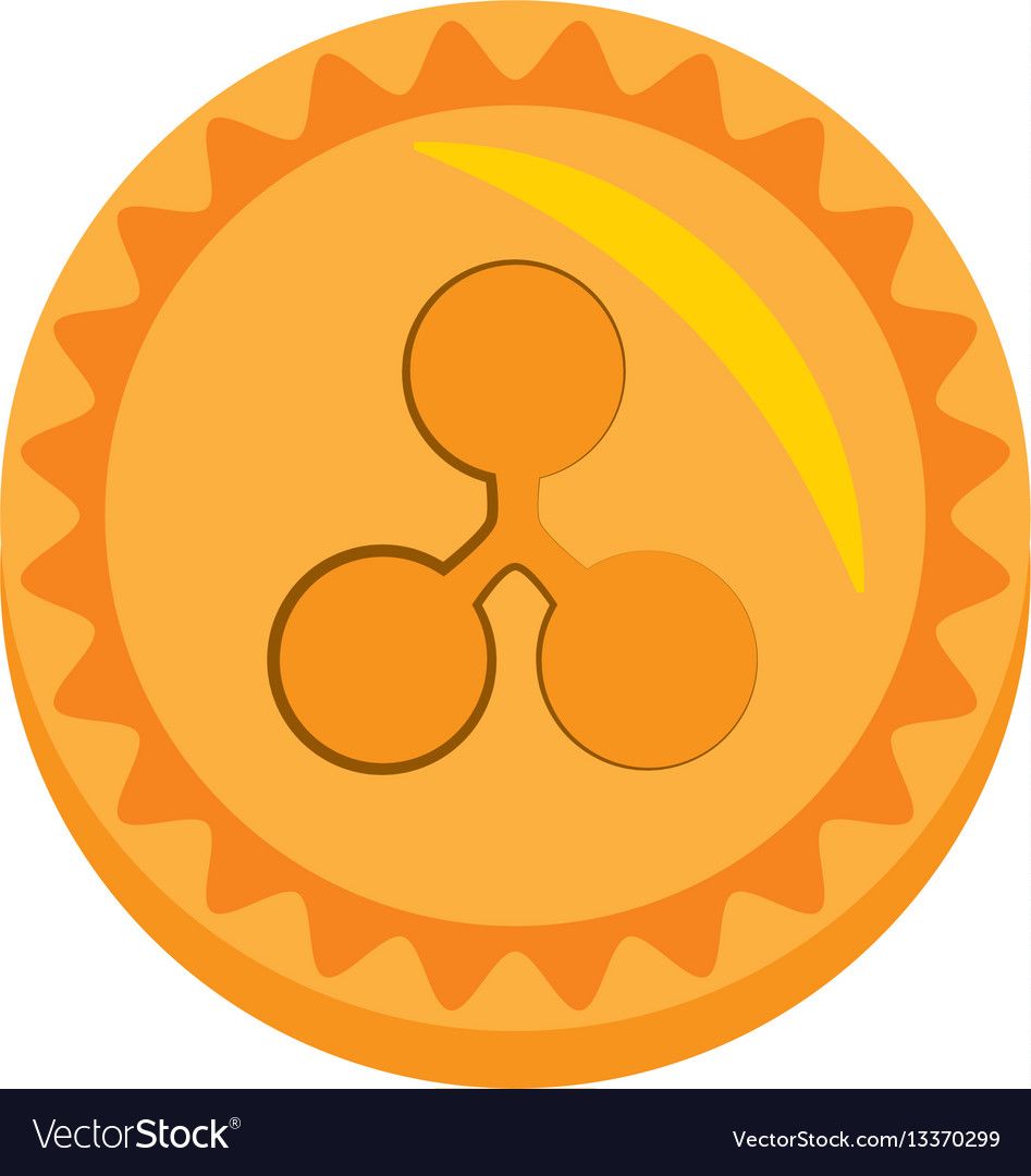 Ripple money golden coin