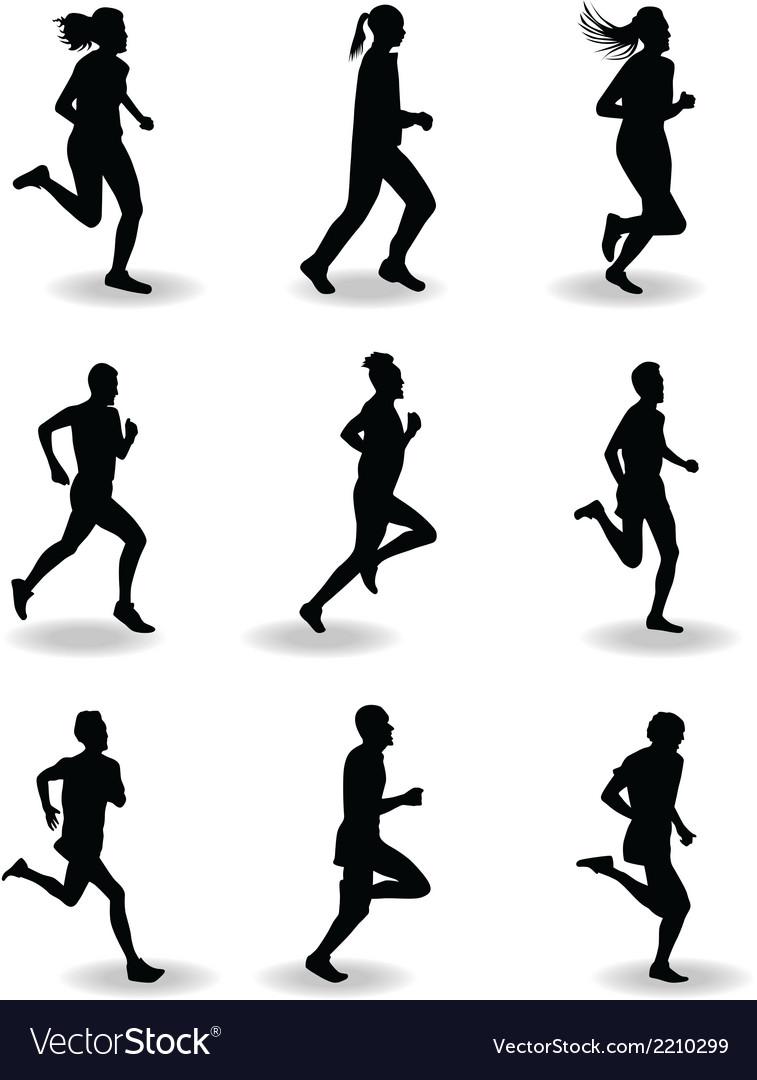 runner royalty free vector image vectorstock vectorstock