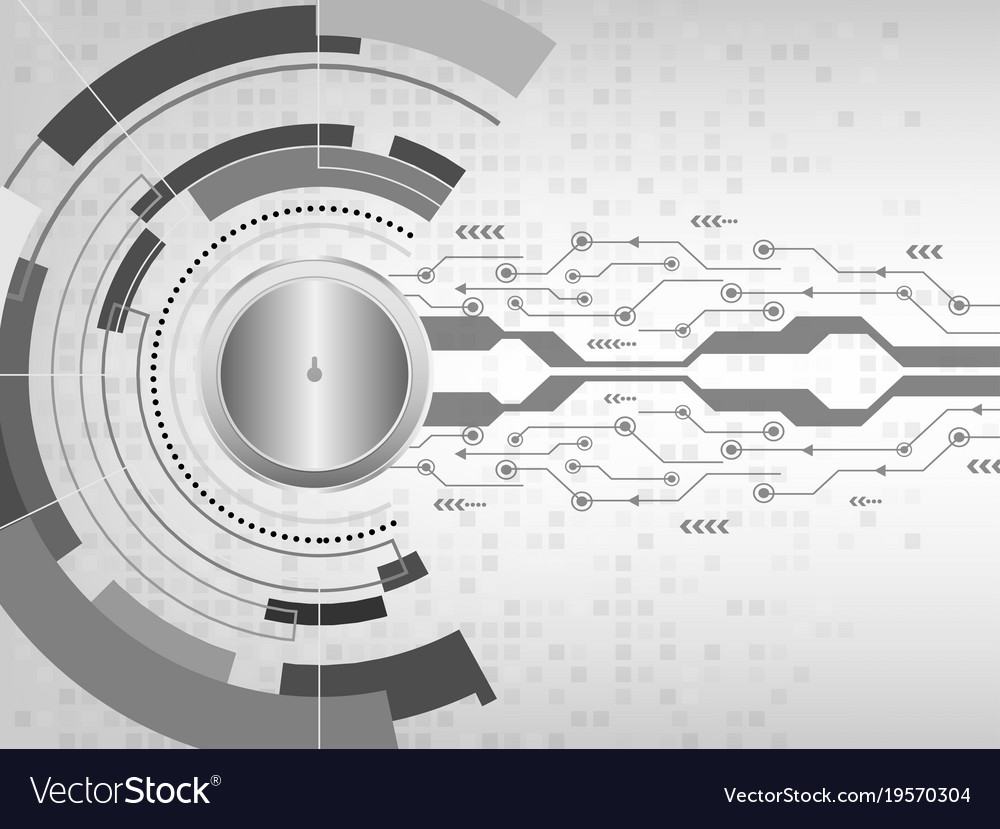 Closed padlock on abstract futuristic background vector image