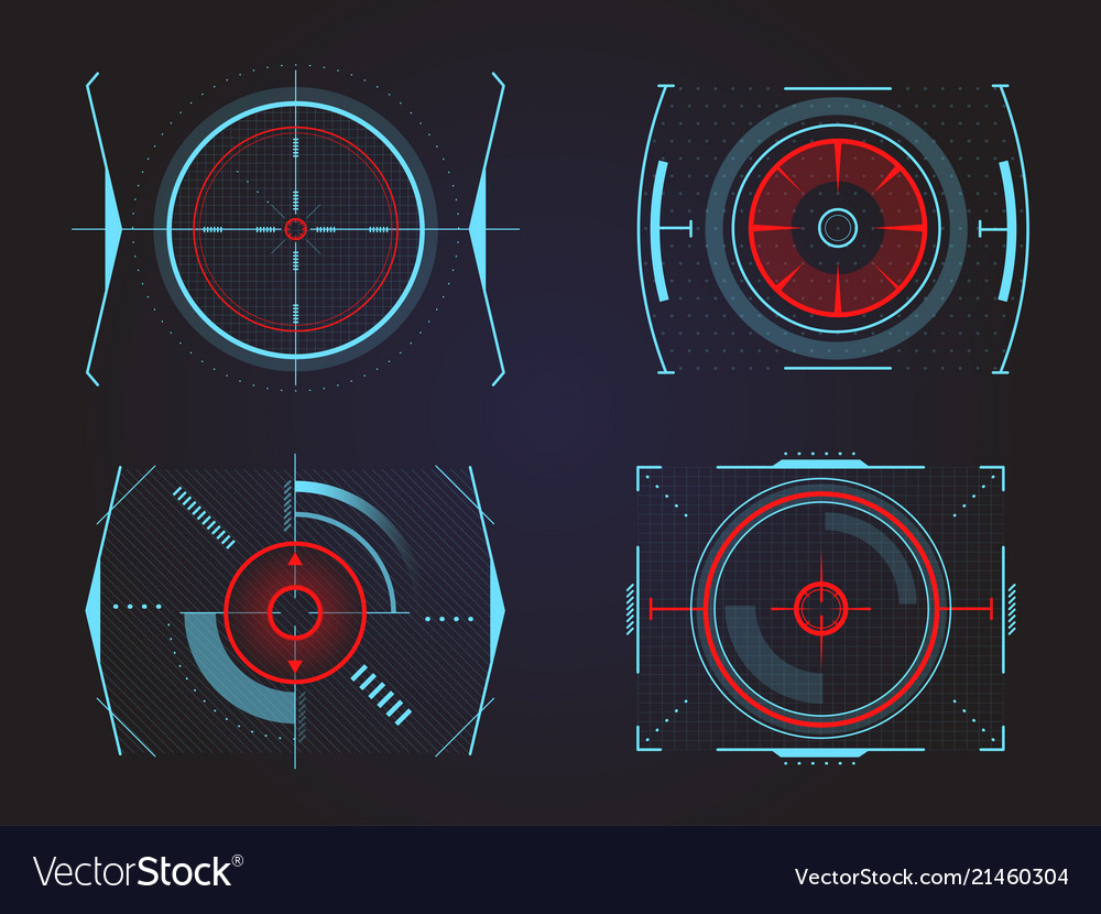 Futuristic crosshair or aim radar or location