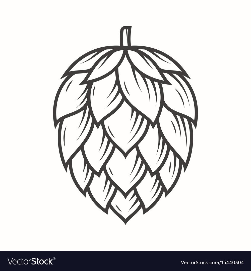 Hop emblem icon label logo