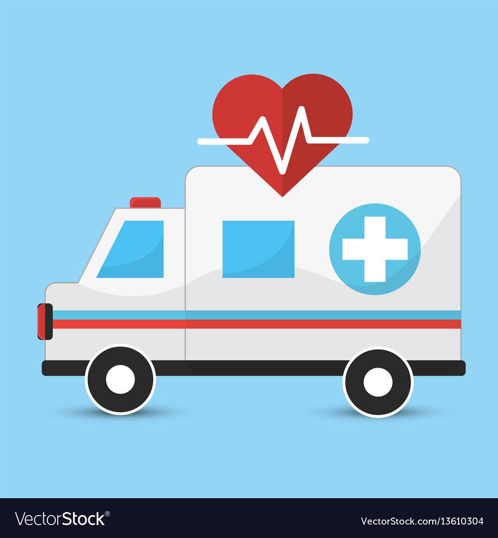 Hospital emergency ambulance icon