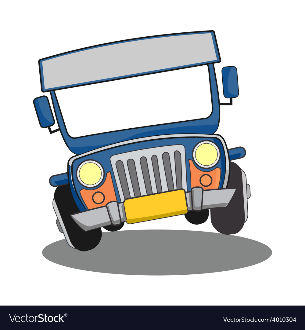 Philippine Jeepney Cartoon Royalty Free Vector Image