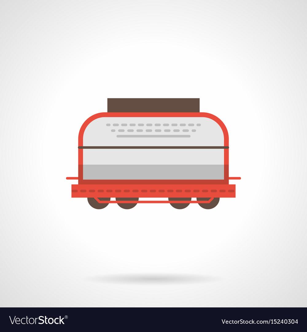 Universal boxcar flat color icon