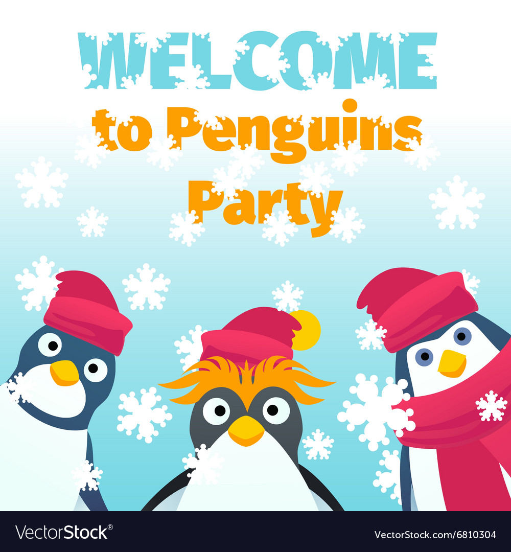 winter party invitation royalty free vector image
