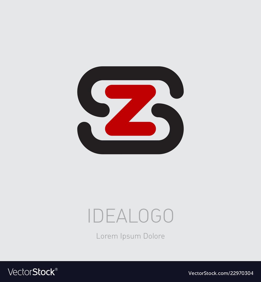 Zs - design element or icon initial monogram