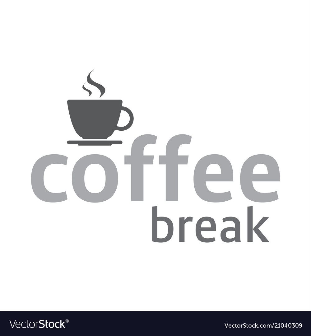 Cup of coffee coffee break logotype