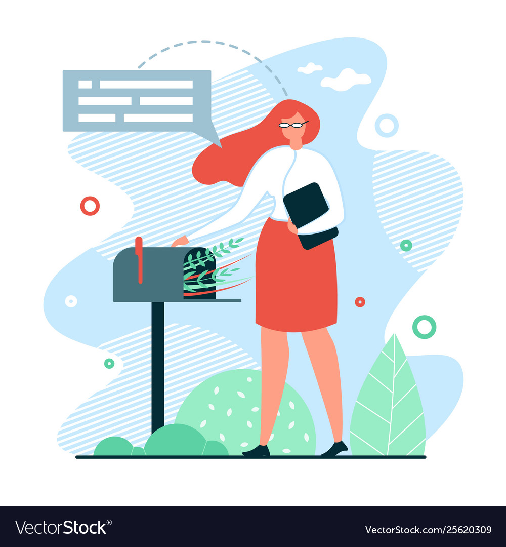 Waiting For Mail >> Flat Banner Waiting For Mail Royalty Free Vector Image
