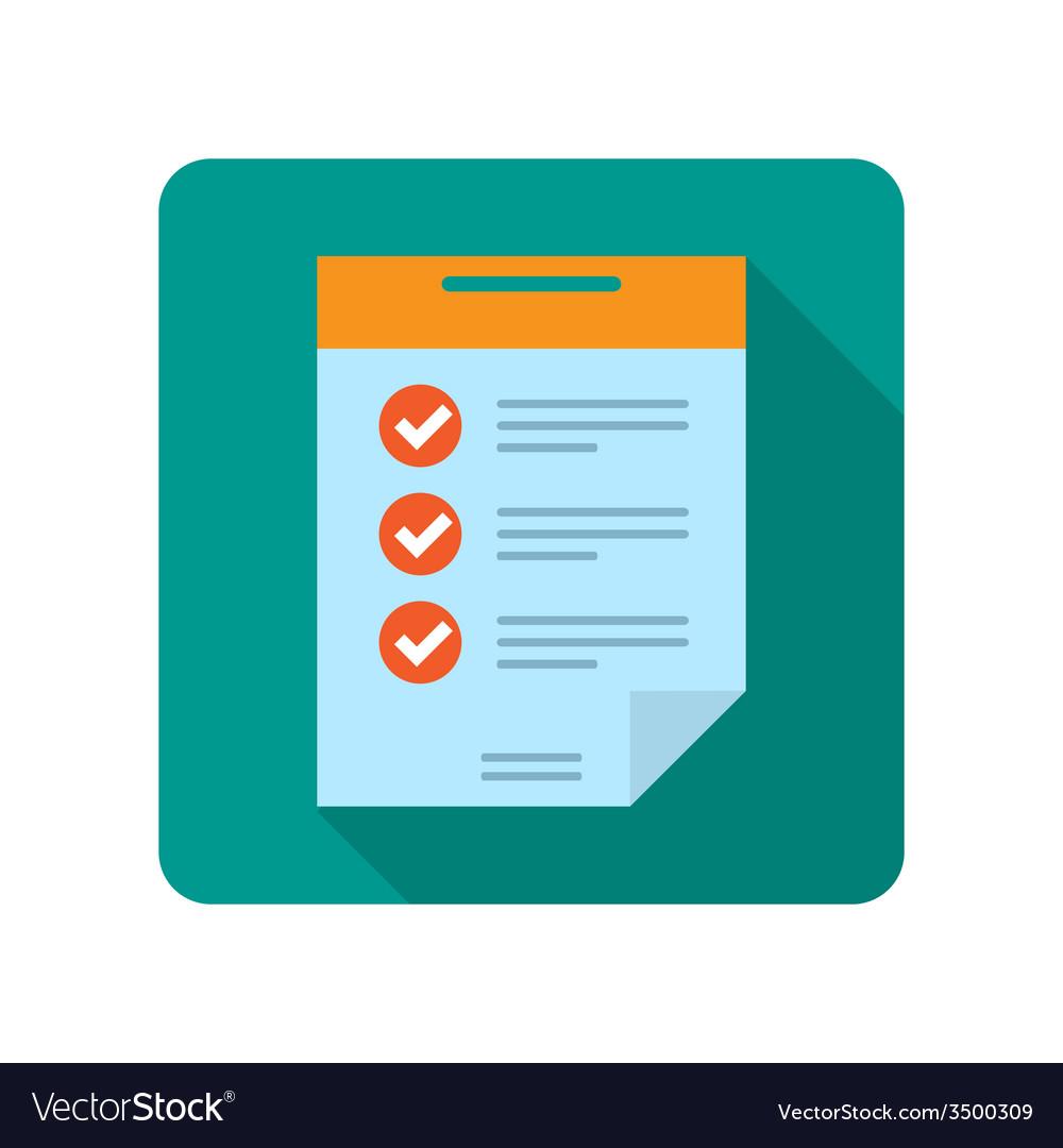 Flat document icon vector image
