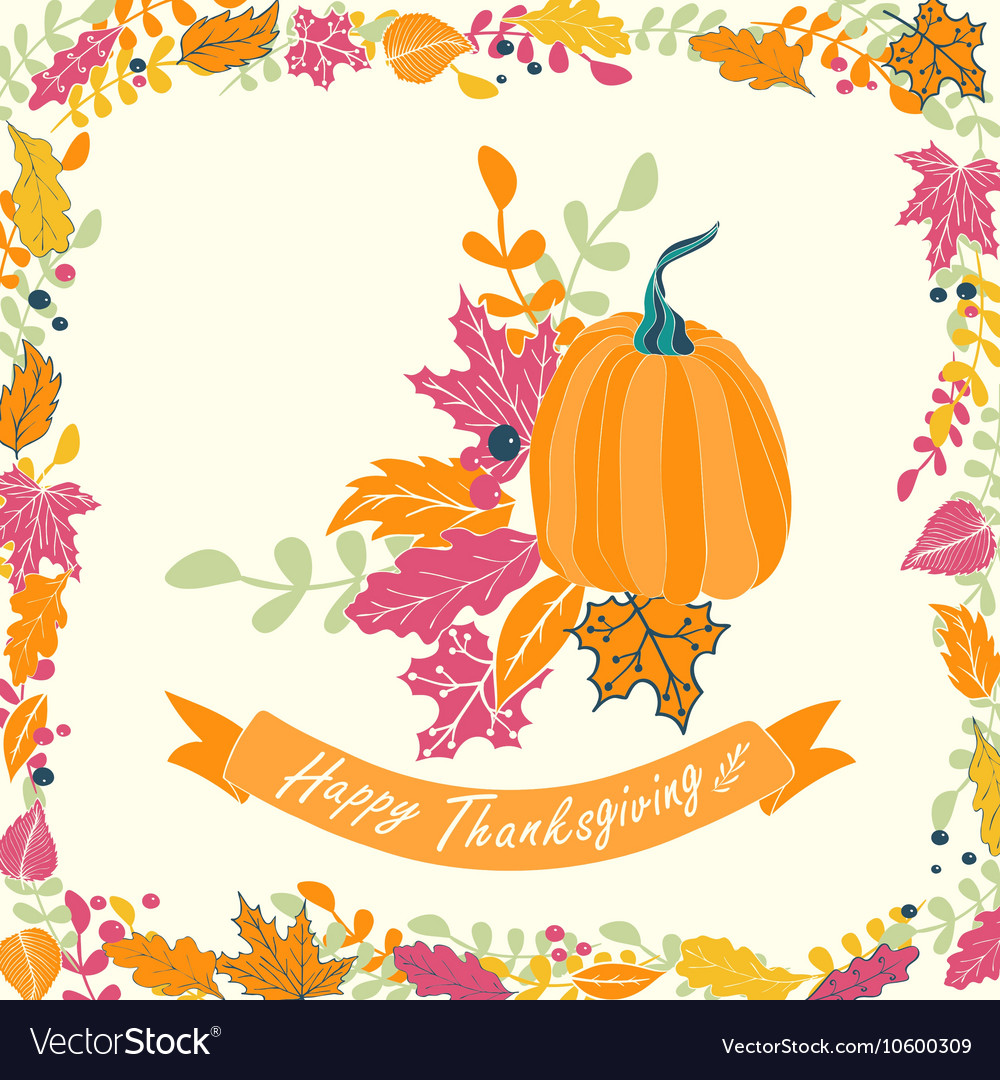 Happy Thanksgiving card vector image