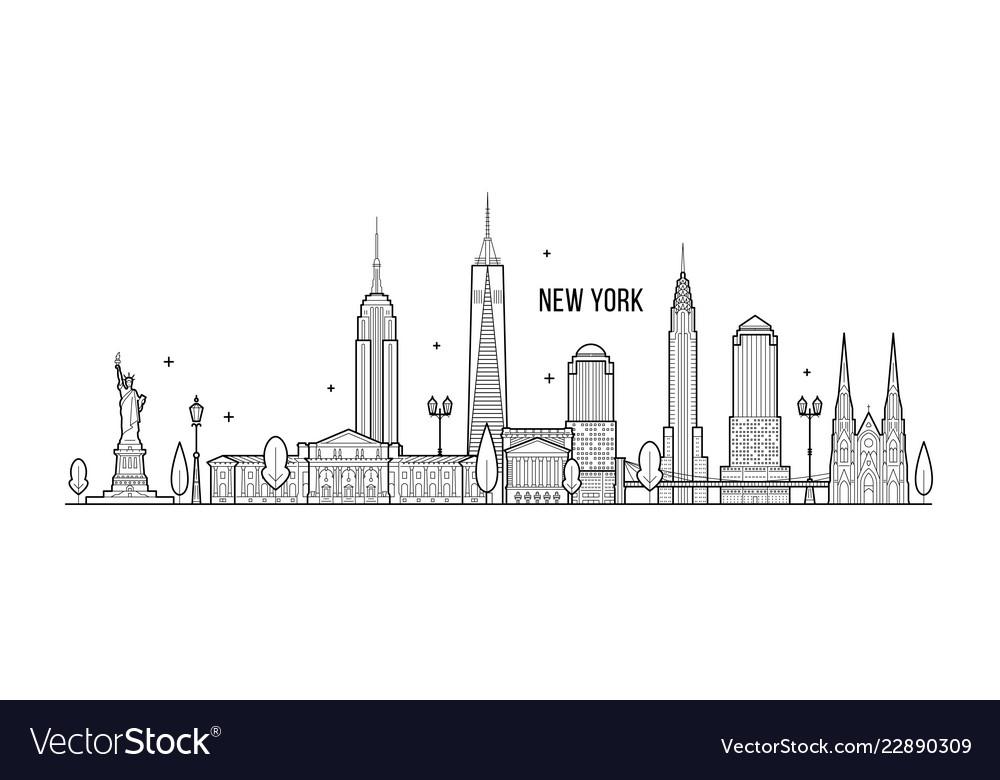 New york skyline usa big city buildings