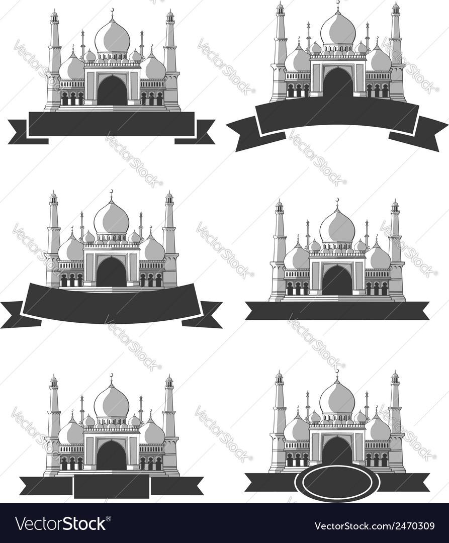 Ramadan Eid Mubarak Greeting Masjid Banner