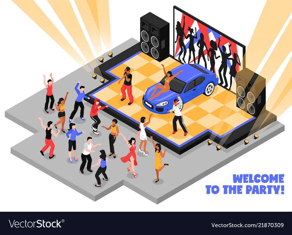 Welcome to the party isometric