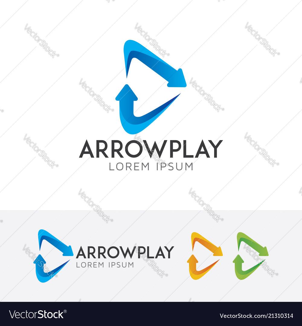 Arrow play logo design
