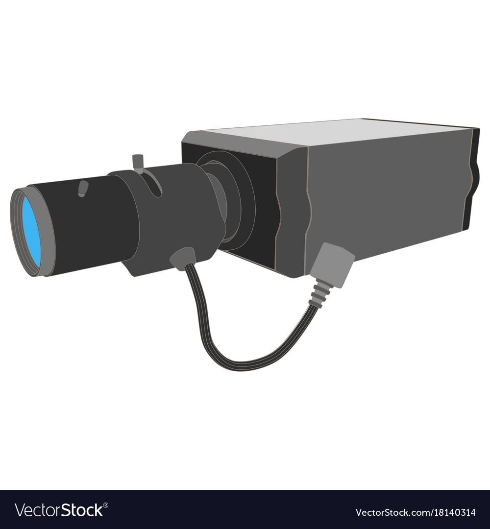 Cctv camera security icon surveillance video vector image