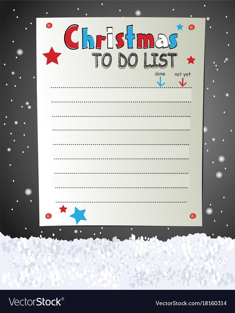 christmas to do list vector image