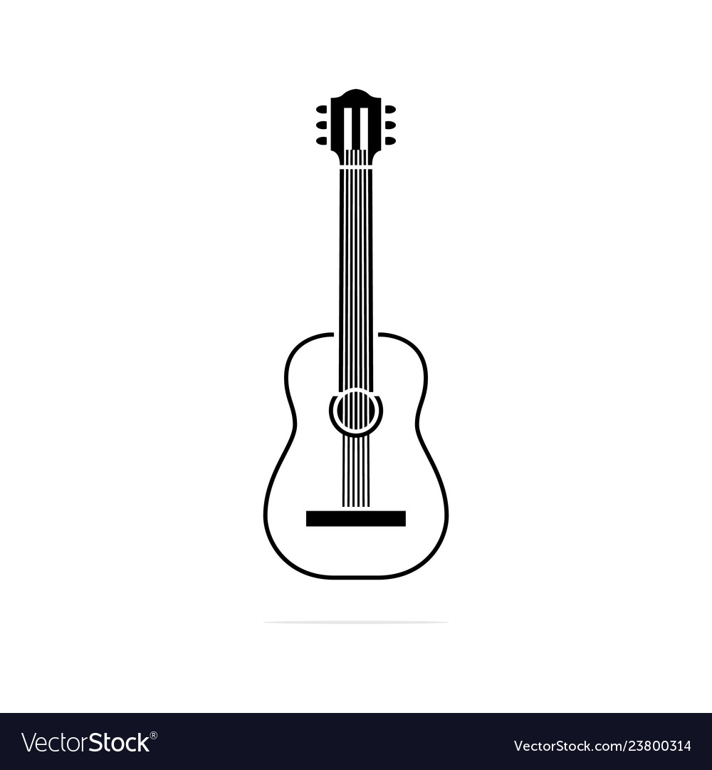 Classical guitar icon concept for