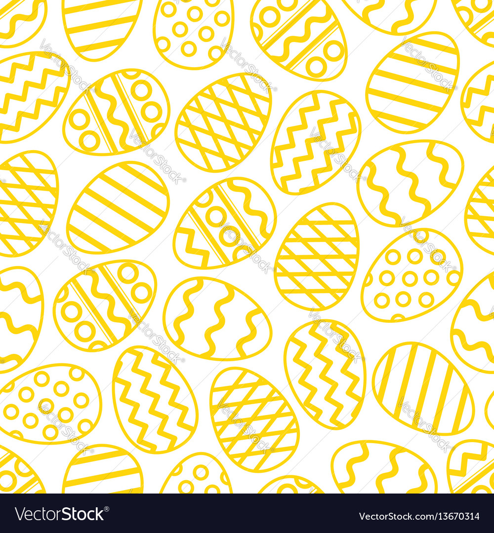 Easter eggs green seamless pattern