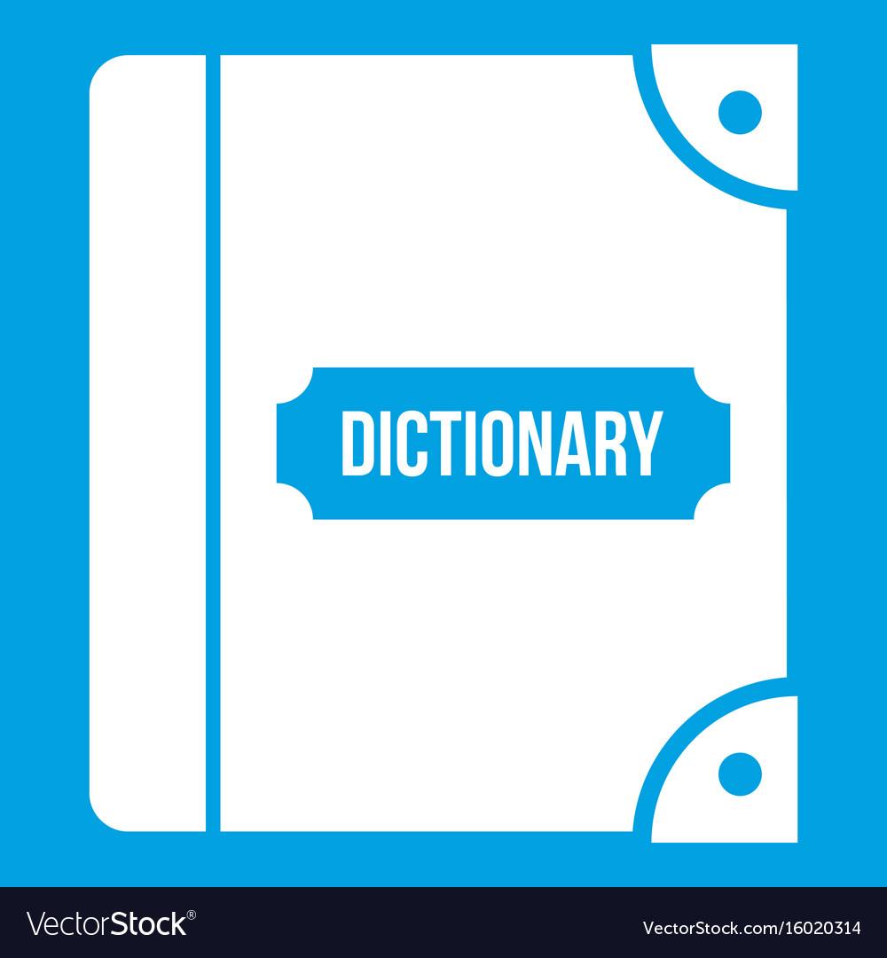 English dictionary icon white
