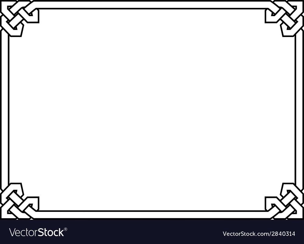 Gothic style black ornamental decorative frame Vector Image