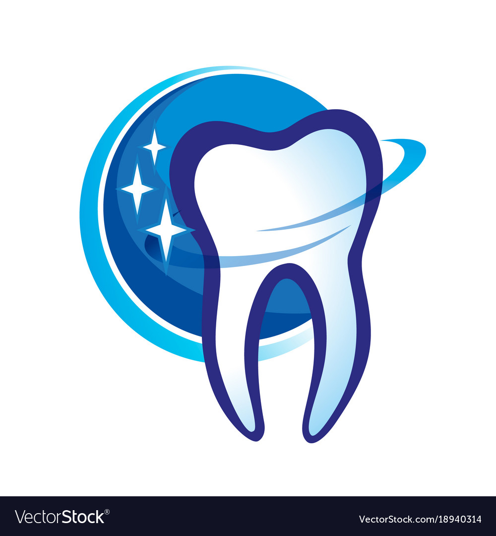 Health dent logo design cosmetic dental