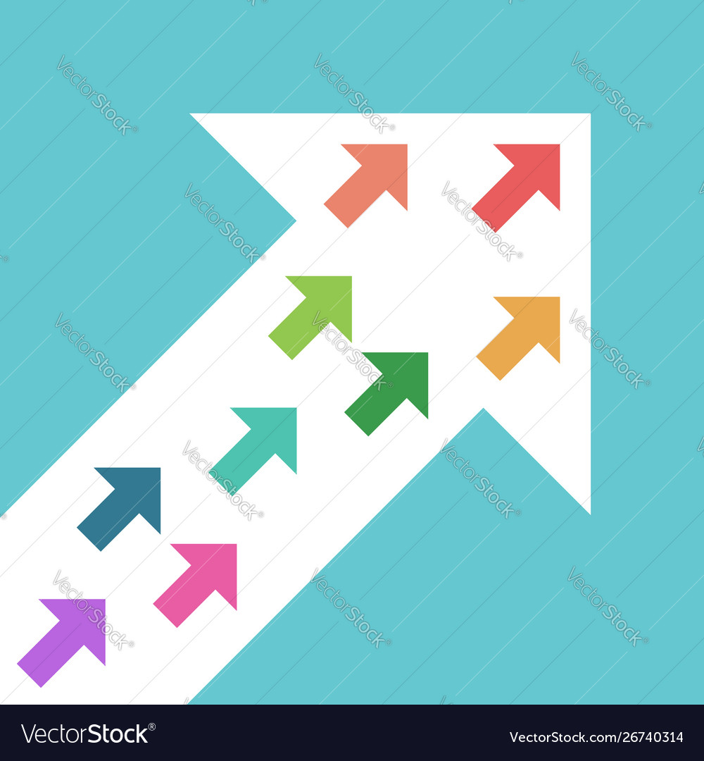Little arrows inside big