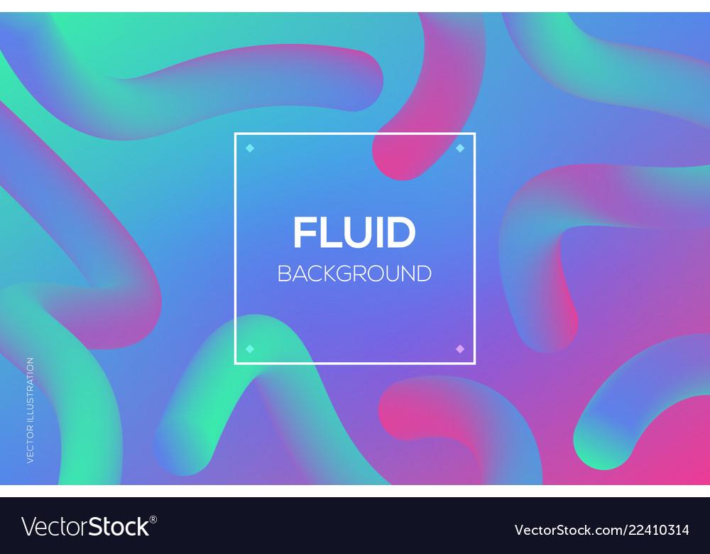 Modern 3d fluid dynamic futuristic web design