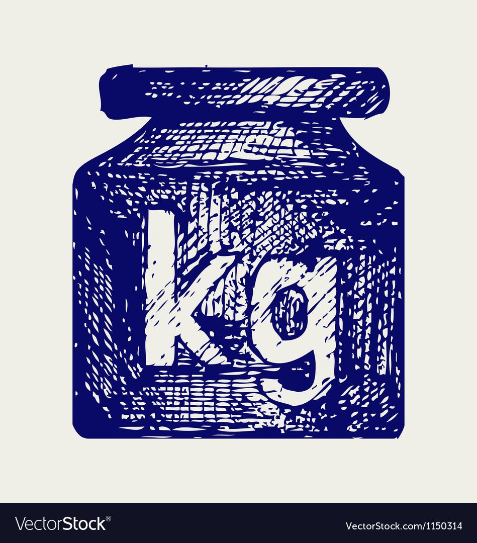 Weight kilogram vector image