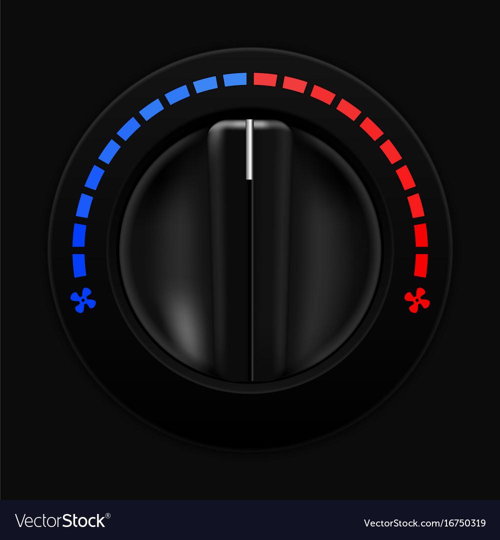 Air temperature selector car dashboard black