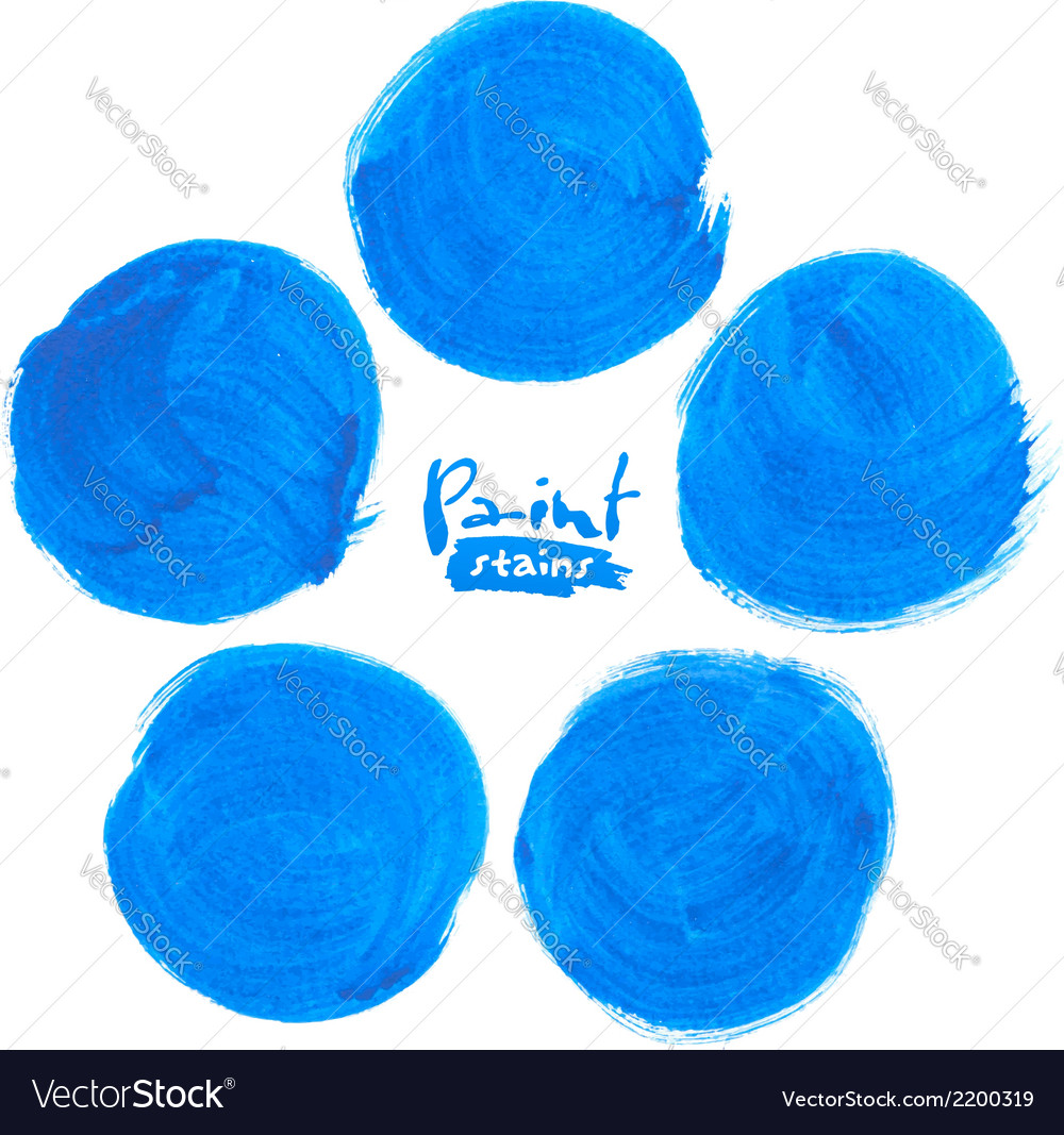 Blue circlemarker stains set