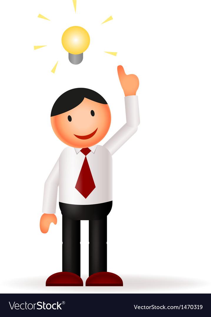 Businessman cartoon and idea