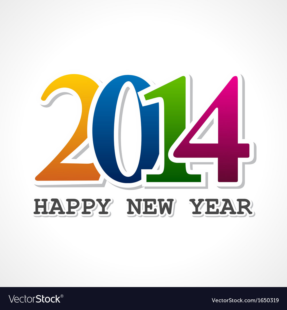 Creative new year2014 concept