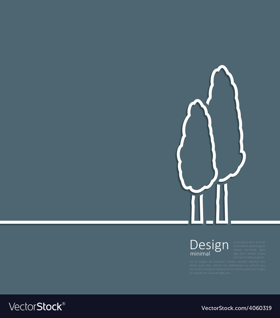 Logo of cypresses in minimal flat style line