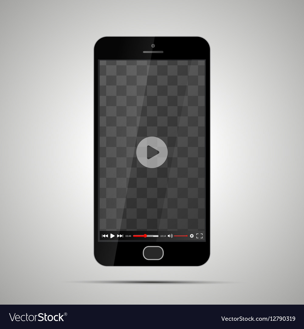 Smartphone with transparent place for video player