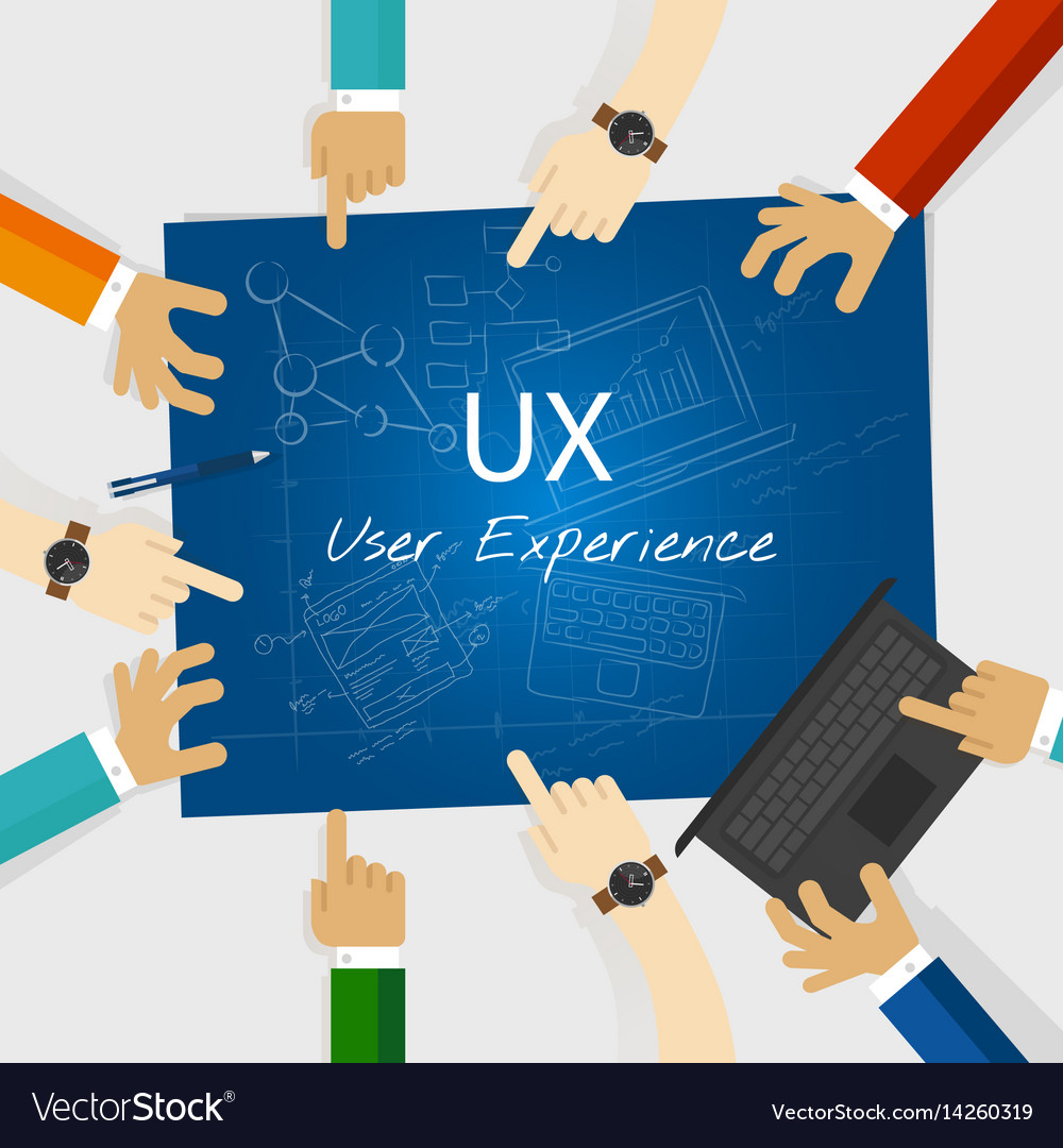 Ux User Experience Web Design Concept Royalty Free Vector