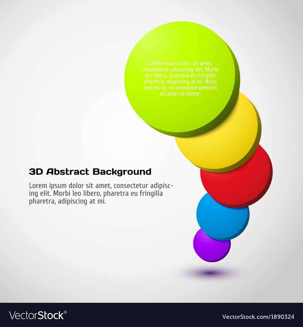 Colorful 3D circle background