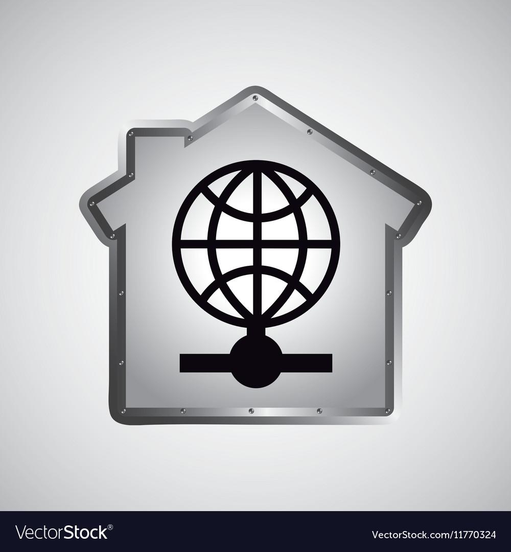 Computer data protection globe icon