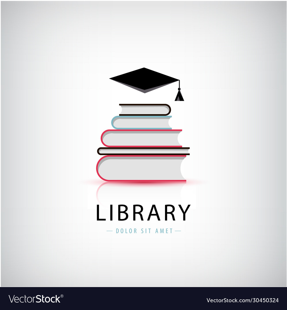 Education library knowledge logo books