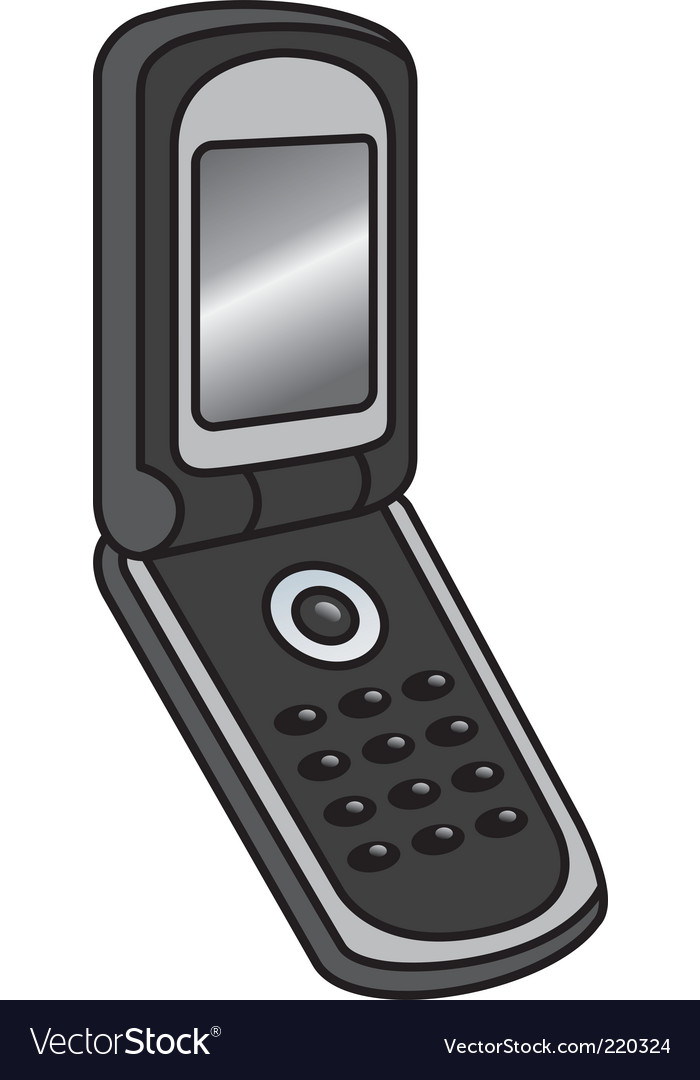 Flip phone vector image