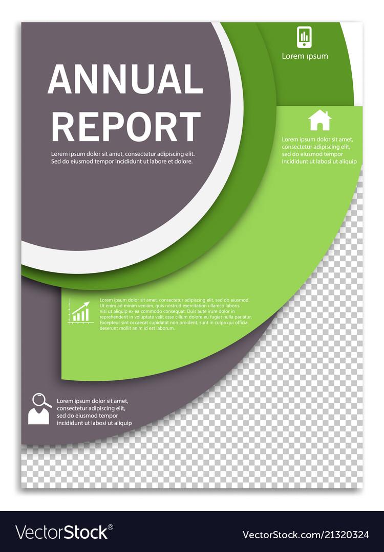 Flyer design business brochure template annual