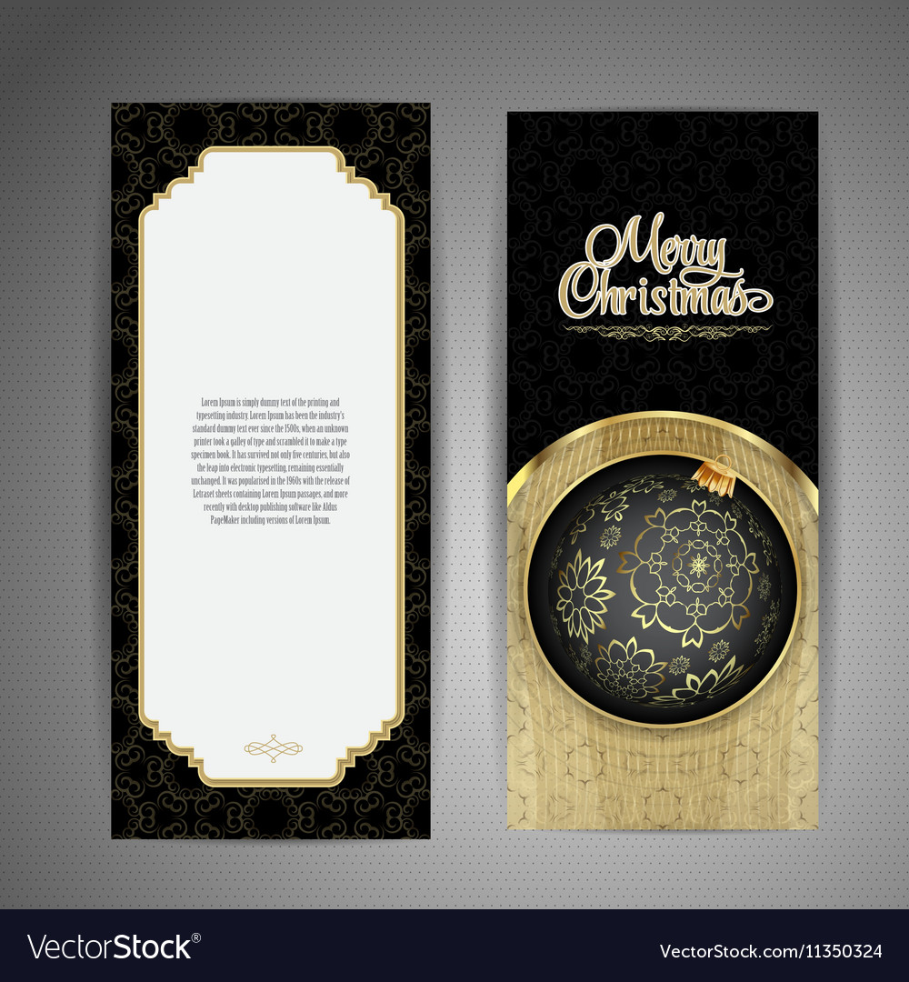 Luxury card with Christmas ball vector image