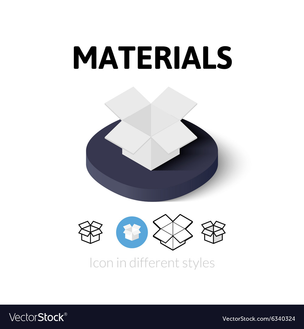 Materials icon in different style