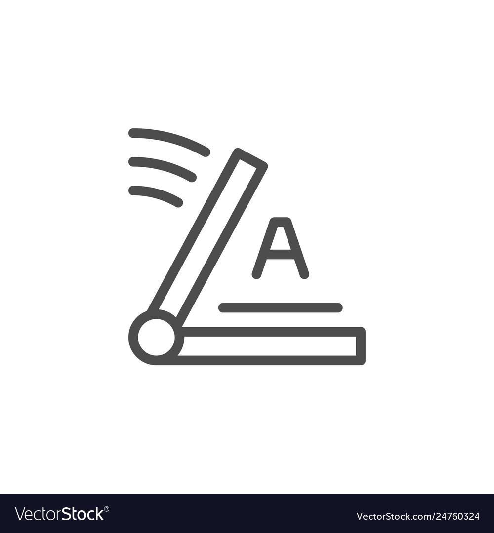 Screen printing line icon