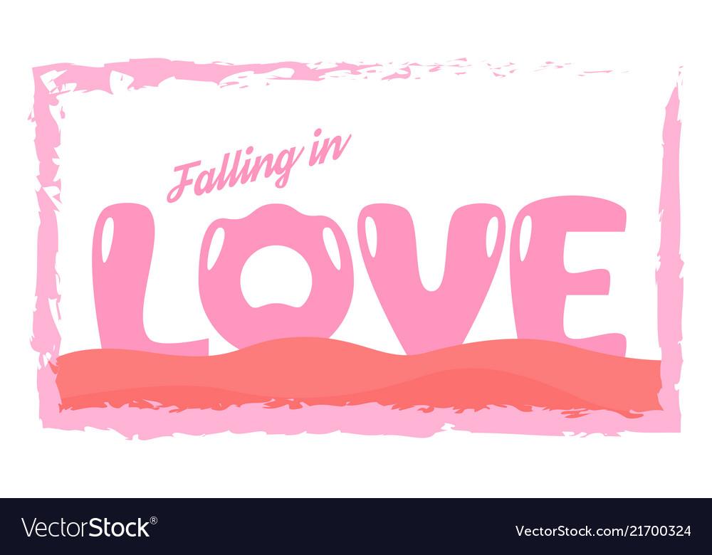 Slogan design in love concept for advertisement t